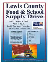 Lewis County Food & School Supply Drive