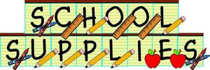 SCHOOL SUPPLIES LIST!